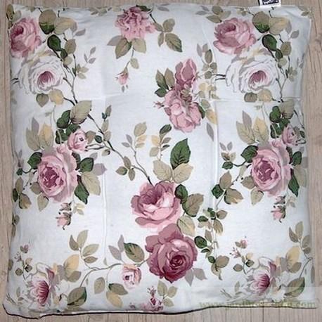 Coussin-dessus de chaise roses d'antan