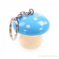 Porte-clés Champignon Bleu
