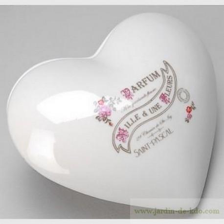 Boite à bijoux coeur porcelaine Amadeus