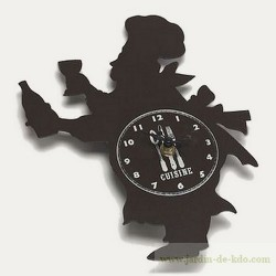 Horloge Cuistot Silhouette Chef Italien