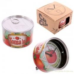 Horloge en boite de conserve magnétique tomato