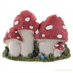 Magnet champignons magiques en résine