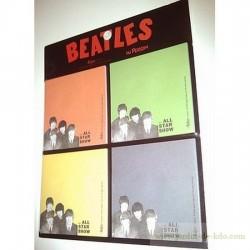 Set 4 blocs colorés post-it Beatles