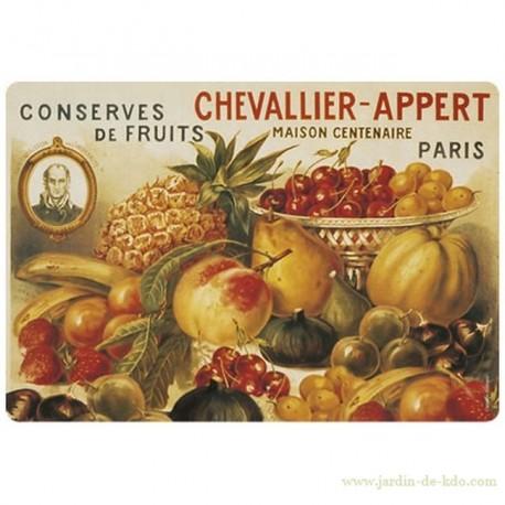 Set de table conserves de fruits Chevallier Paris
