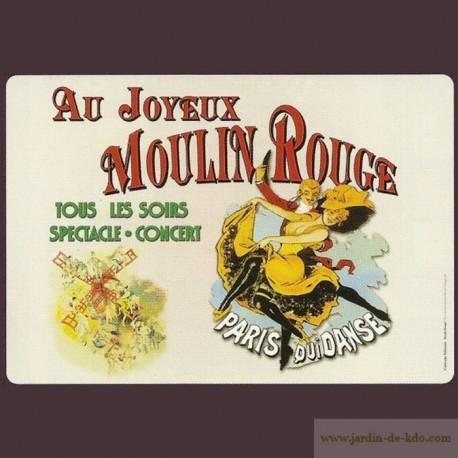 """Set de table """"Moulin Rouge"""" Paris"""