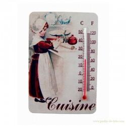 """Thermomètre """"Petite fille dans sa cuisine"""""""