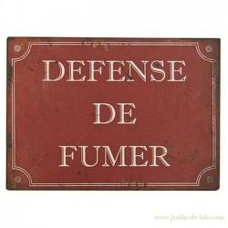 """Plaque rouge """"Défense de fumer"""""""