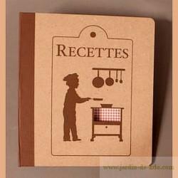 "Classeur Recettes ""Garçon"""