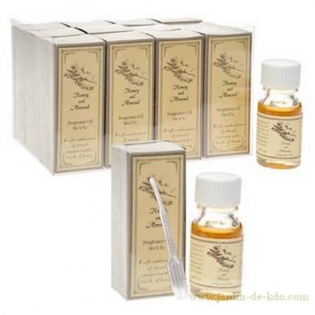 Huile parfumée miel et amande avec pipette