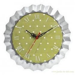 Horloge Moule à tarte vert et blanc J-Line