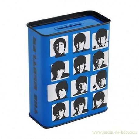 Tirelire bleue métal The Beatles A Hard's Day Night