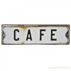 Plaque Café - Coffee en métal