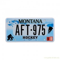 Plaque immatriculation US Montana Hockey Sport