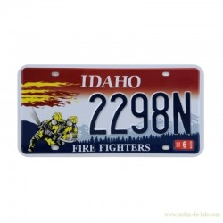 Plaque Immatriculation USA Idaho Hommage Pompiers Fire