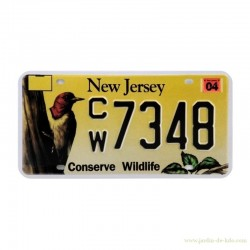 """Reproduction de plaque US """"New Jersey - Conserve Wildlife"""""""