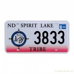 Plaque auto North Dakota Spirit Lake Tribe deux couleurs