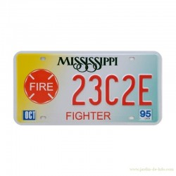 Plaque américaine licence plate Mississippi Fire Fighter
