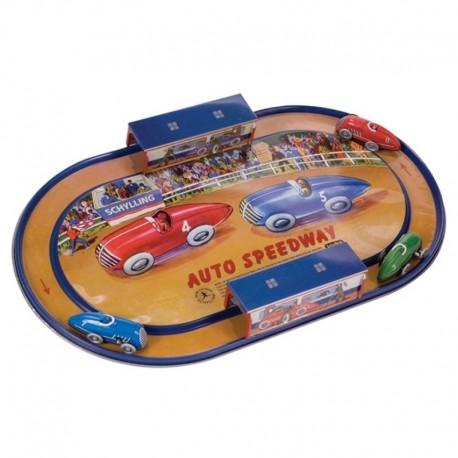 Circuit de courses en métal rétro Auto Speedway
