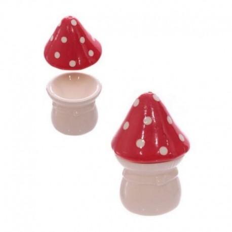 Set salière et coquetier champignon