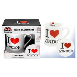 Mug blanc et soucoupe love london