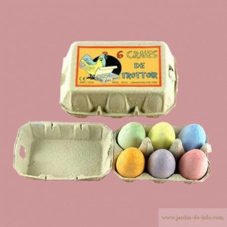 Boite de 6 œufs craies de trottoir