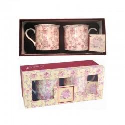 Coffret 2 tasses poésie florale Cavania London
