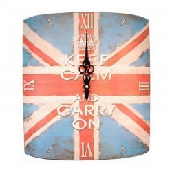 "Horloge métal UK ""Keep Calm & Carry On"""