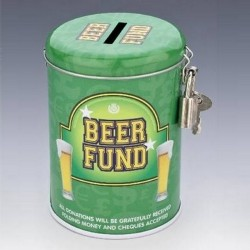 "Tirelire métal ""Beer Fund"""