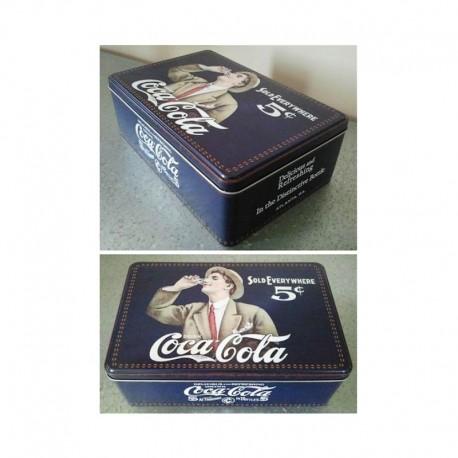 Boite à sucre bleue Coca-Cola