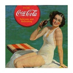 "Pack 20 serviettes Coca ""Pin-Up Piscine"""