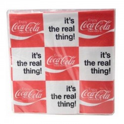 "Pack 20 serviettes Coca ""It's the real thing !"""