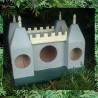 Château fort à oiseaux - cabane fait main