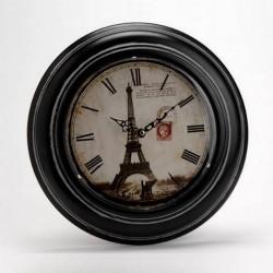Horloge Nostalgie Eiffel Fer Et Verre