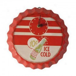 Pendule en bois Soda Ice Cold
