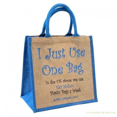 "Sac en jute ""I just use one bag"""