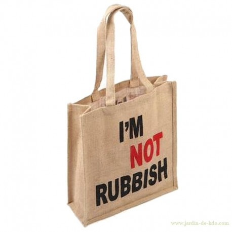 "Sac en jute ""I""m not a rubbish"""