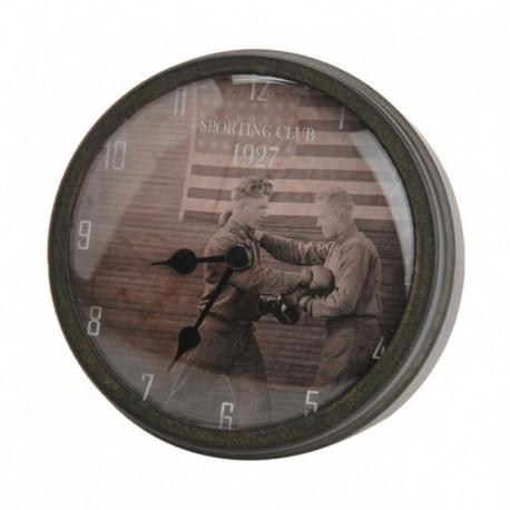 Horloge aimantée boxe drapeau USA 1927