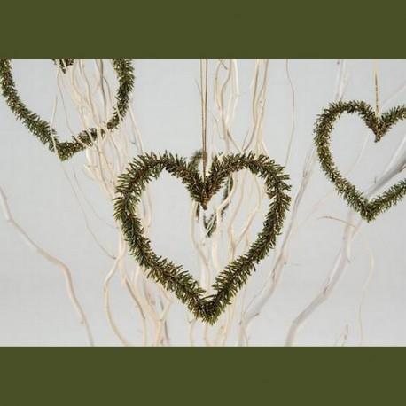 Suspension coeur en pin en plastique