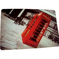 Set de table PVC British Red Phone Box