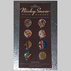 Lot de 8 badges New Vintage Nicky Snow