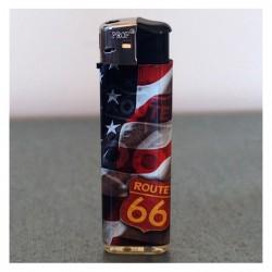 """Briquet électronique rechargeable """"USA - Route 66"""""""