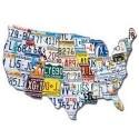 Plaques minéralogiques USA
