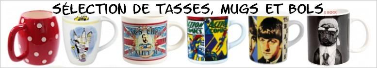 Sélection de tasses, mugs et bols