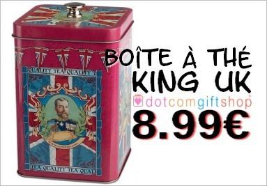 Boîte à thé King UK