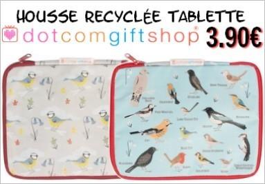 Housses recyclées Oiseaux pour tablettes